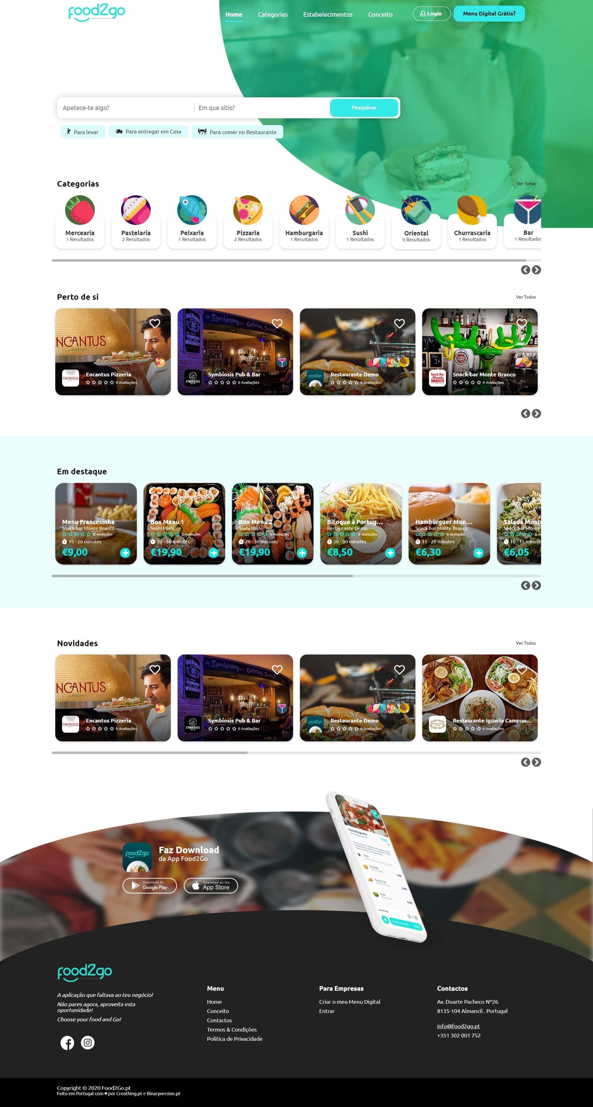 Menu Digital Food2Goo